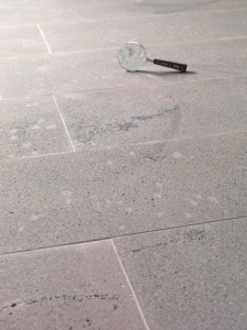 Sandblasted Graphite Floors